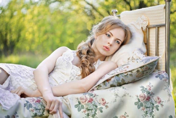 Beautiful girl taking a beauty nap