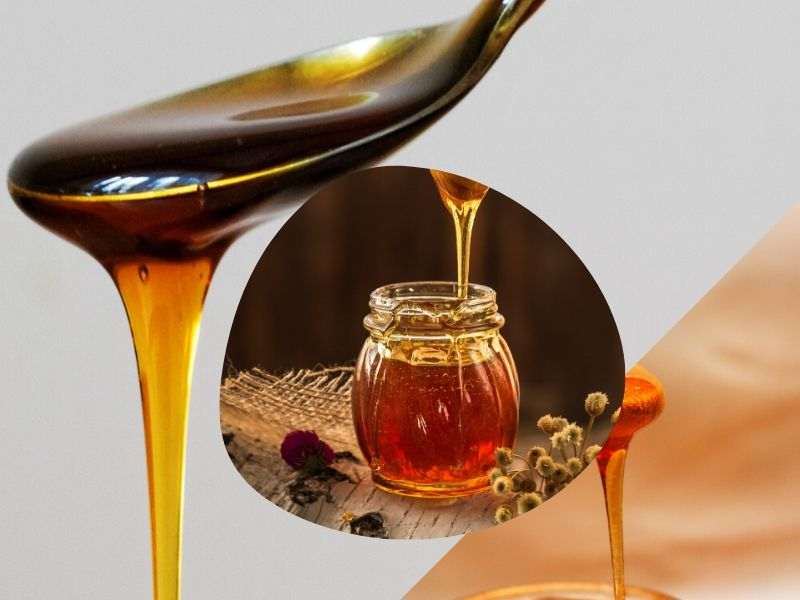Honey used as a spot treatment on scars