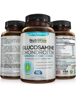 NutriRise Glucosamine Chondroitin Turmeric & MSM
