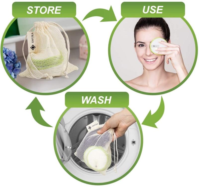 Reusable cotton makeup pads