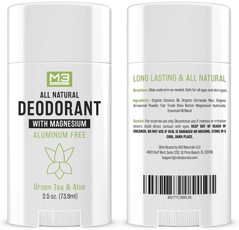 M3 Naturals aluminum free deodorant with magnesium