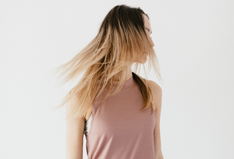 Girl with coarse hair
