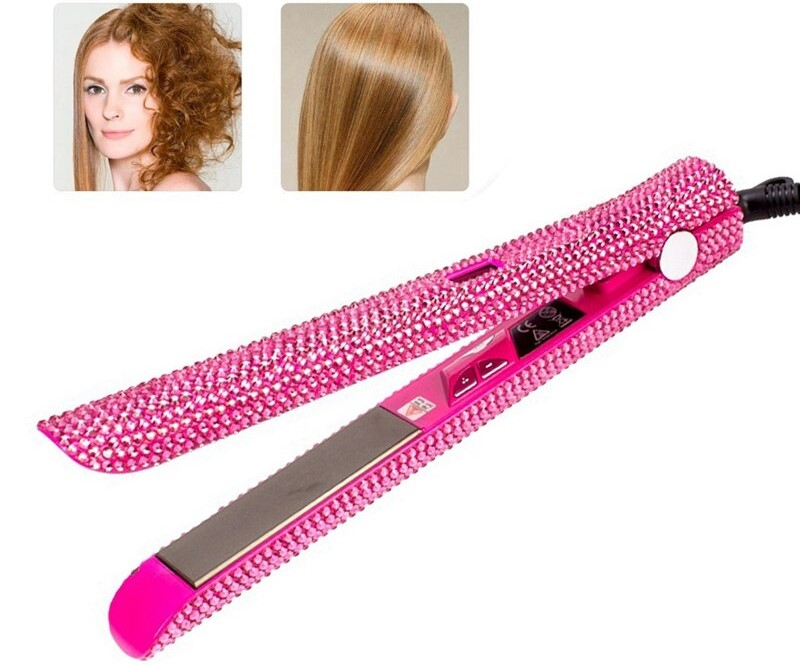 Pink flat iron for coarse hair