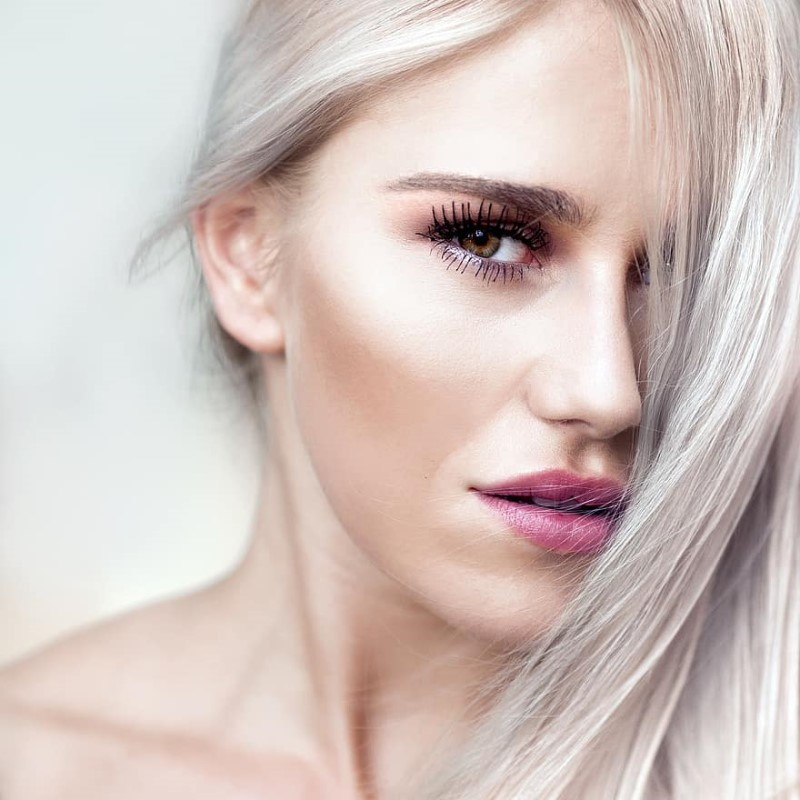Young woman having the best luxury foundation on oily skin