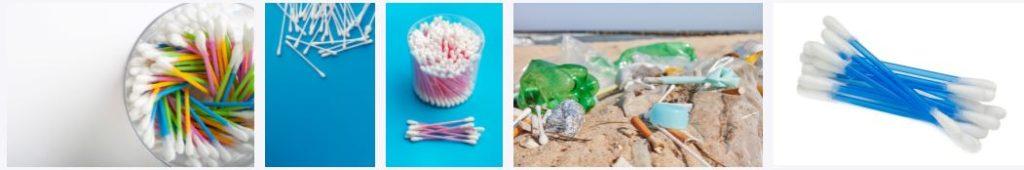 Plastic cotton buds - plastic waste