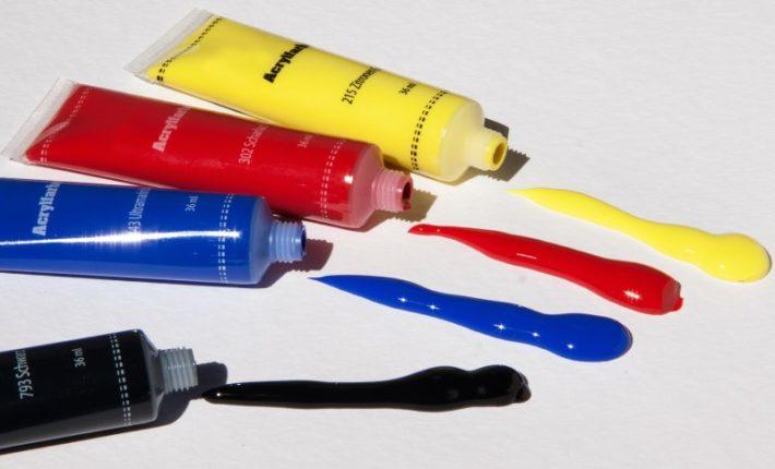 Multicolor acrylic paints