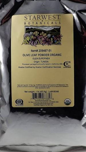 Starwest Botanicals Organic Olive Leaf Powder
